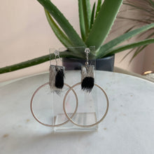 Load image into Gallery viewer, Animal Print Suede Earrings