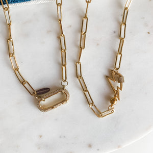Paperclip Collarbone Statement Necklace