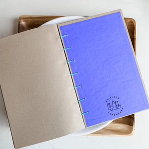 Natural Pop of Color Hand Bound Journal