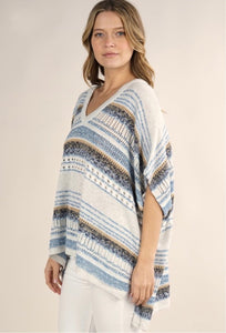 Lovestitch Short Sleeve Poncho