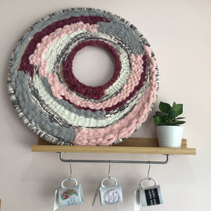 Hand Woven Macrame Wall Hoop - The Catalyst Mercantile