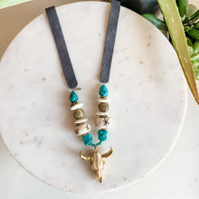 Load image into Gallery viewer, Austin Turquoise Steer Statement Necklace