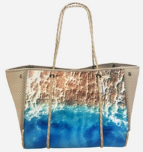 Load image into Gallery viewer, Beach Aerial View Scene Neoprene Tote - The Catalyst Mercantile