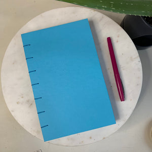 Bright Blue Hand Bound Journal