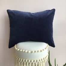 Load image into Gallery viewer, Dusty Navy Velvet Pillow Cover - The Catalyst Mercantile