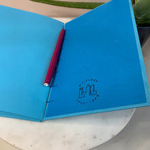 Load image into Gallery viewer, Bright Blue Hand Bound Journal