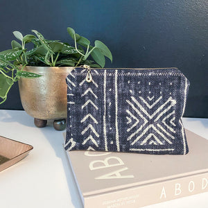 Mali Black Zipper Pouch - The Catalyst Mercantile