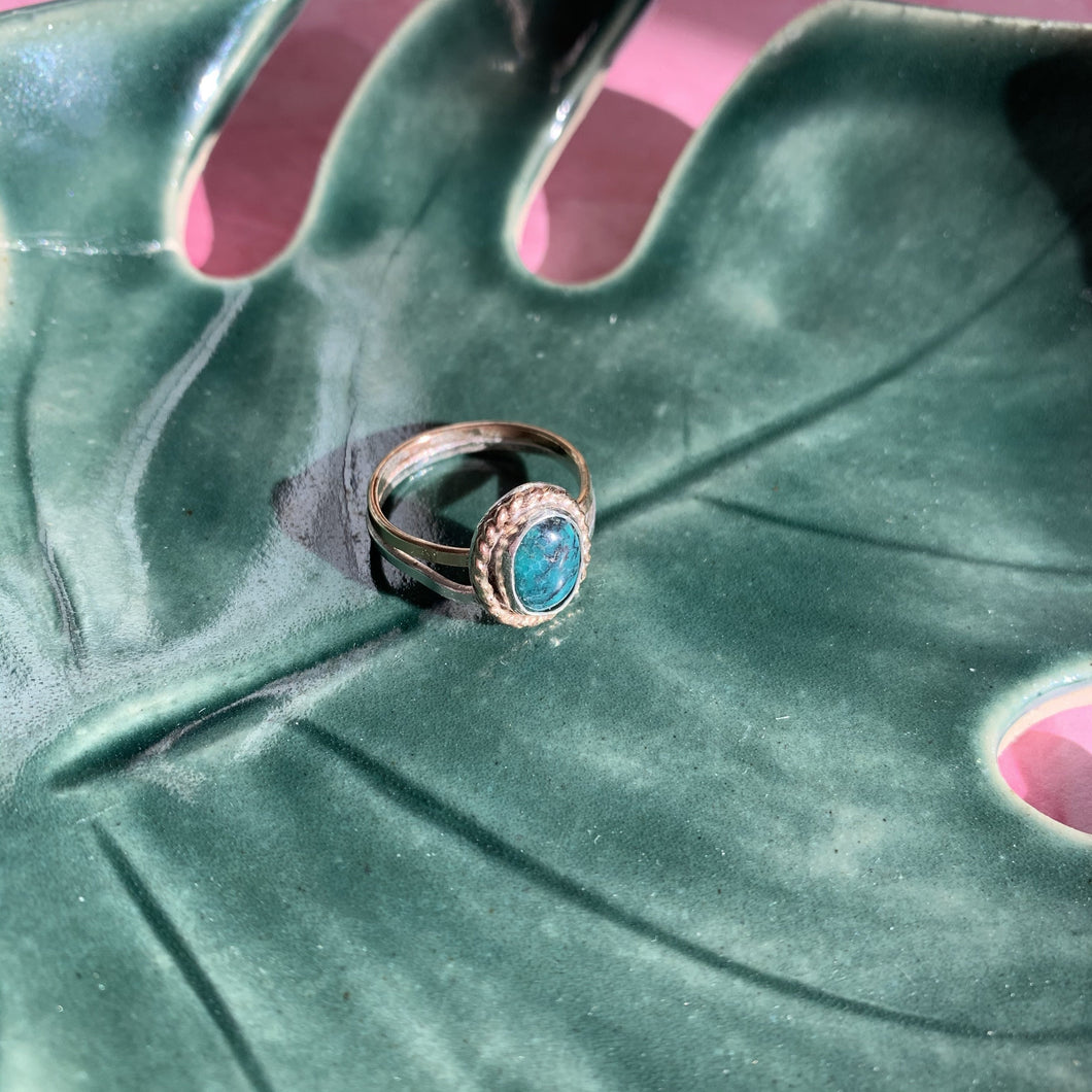 Mixed Metal Hubei Turquoise Ring size 6 - The Catalyst Mercantile