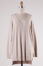 Load image into Gallery viewer, Mandie Vneck Tunic Sweater - The Catalyst Mercantile