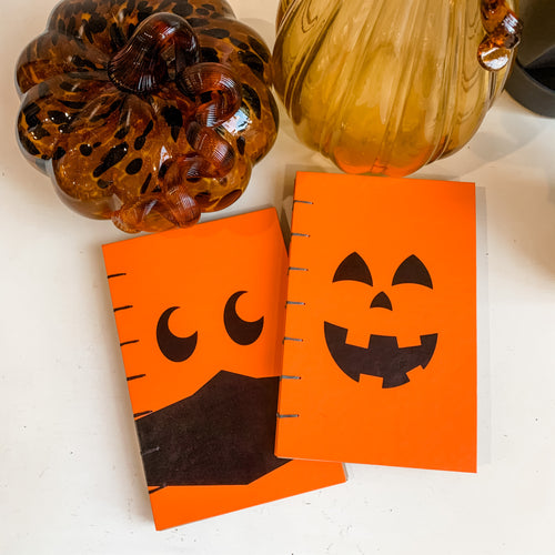 Jack-O-Lantern Hand Bound Journal