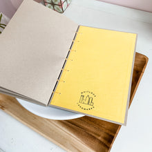 Load image into Gallery viewer, Natural Pop of Color Hand Bound Journal