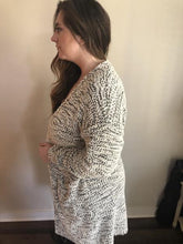 Load image into Gallery viewer, Grey & White Knit Cardigan