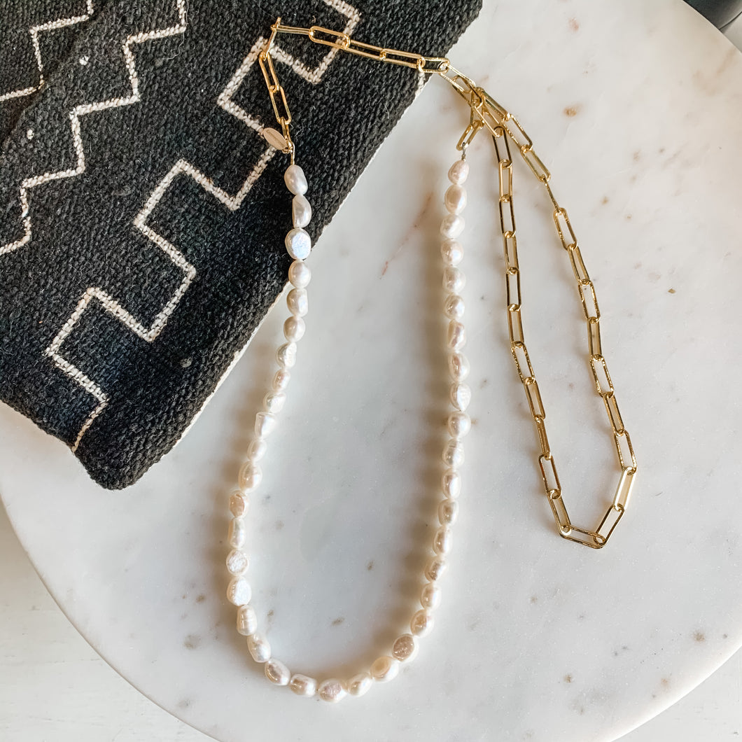 50/50 Pearl Wrap Necklace