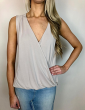 Load image into Gallery viewer, Quartz Cupro Surplice Sleeveless Top - The Catalyst Mercantile