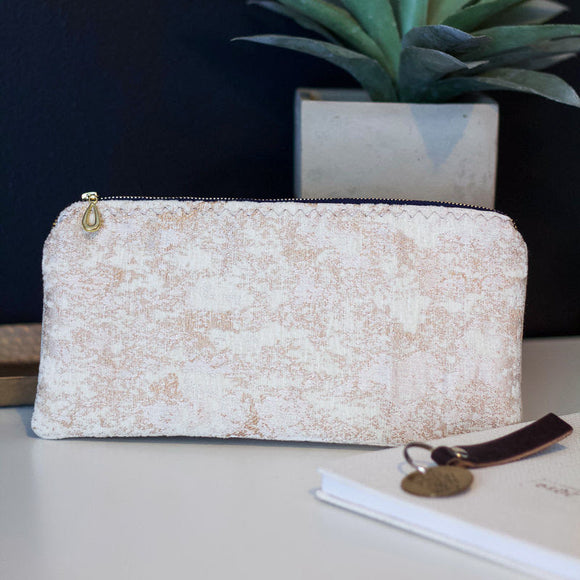Champagne Marble Zipper Pouch - The Catalyst Mercantile