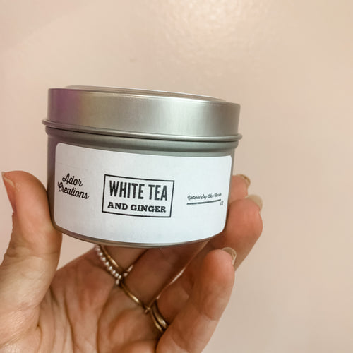 White Tea & Ginger Soy Candle Tin
