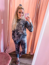Load image into Gallery viewer, Charcoal Tie Dye Jogger Set