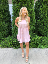 Load image into Gallery viewer, Peyton Mauve Tassel Dress - The Catalyst Mercantile