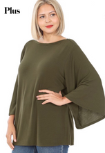 Load image into Gallery viewer, Olive Bell Sleeve Top