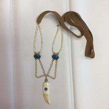 Load image into Gallery viewer, Turquoise and Vintage Brass Horn - The Catalyst Mercantile