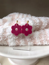 Load image into Gallery viewer, Flower Power Dangle Clay Earrings