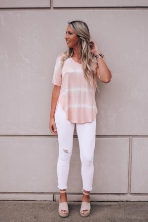 Serenity Now Tie Dye Stripe Top - The Catalyst Mercantile