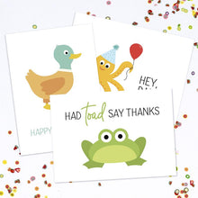Load image into Gallery viewer, Had Toad Say Thanks Greeting Card