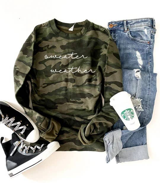 Sweater Weather Camo Sweatshirt