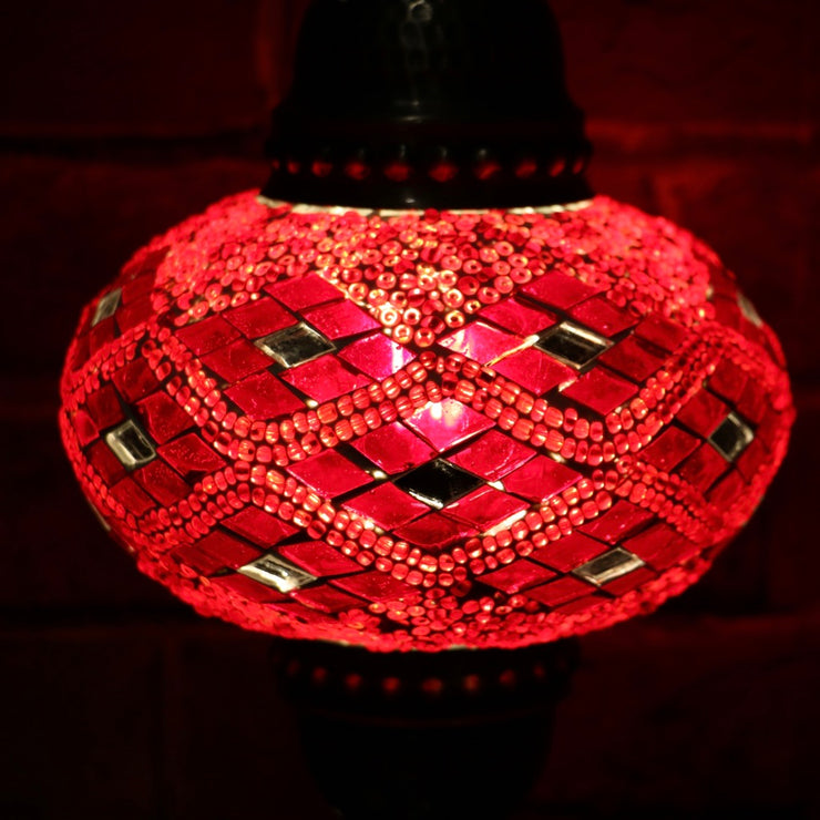 Mosaic Table Lamp in Red, 5 Styles Available