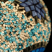 Mosaic Table or Floor Lamp in Light Blues