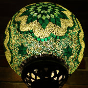 Mosaic Table or Floor Lamp in Hues of Green