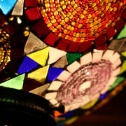 Mosaic Table or Floor Lamp in Rich Colors