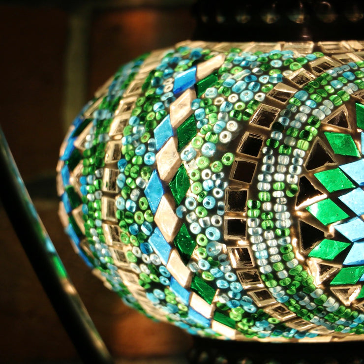 Mosaic Table Lamp in Green & Turquoise, 5 Styles Available