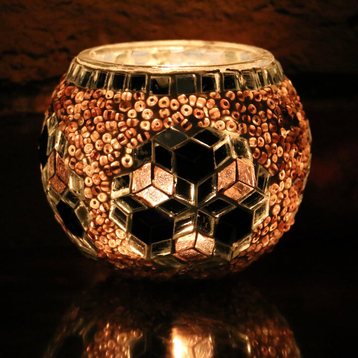Mosaic Candleholder in Purple