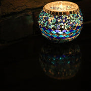 Mosaic Candleholder in Blues