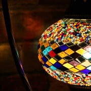 Mosaic Table Lamp in Many Colors, Swan Neck