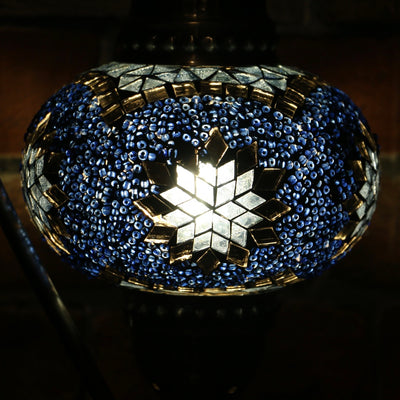 Mosaic Table Lamp in Blue & Grey, 5 Styles Available