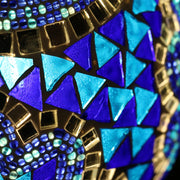 Mosaic Table or Floor Lamp in Blues