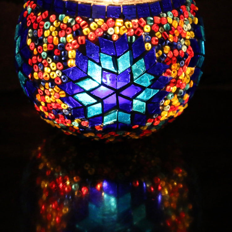 Mosaic Candleholder in Primary Colors