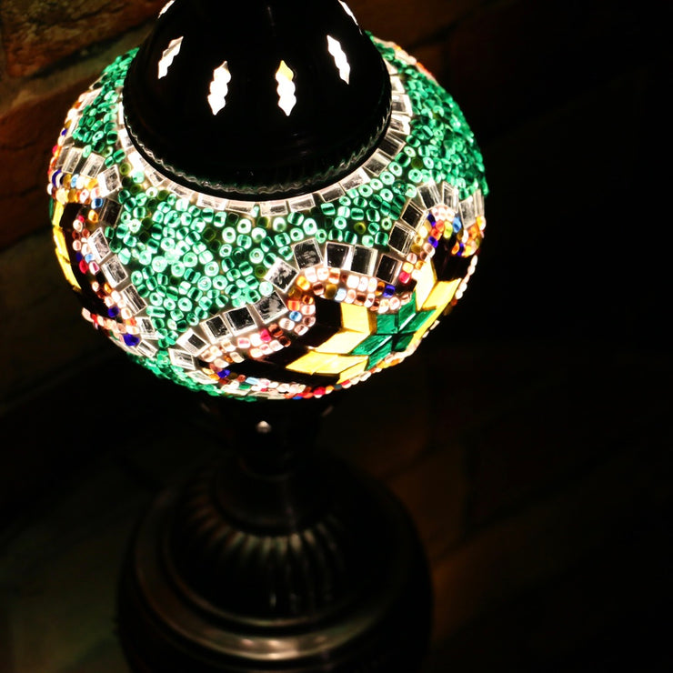 Mosaic Table Lamp in Green & MultiColors