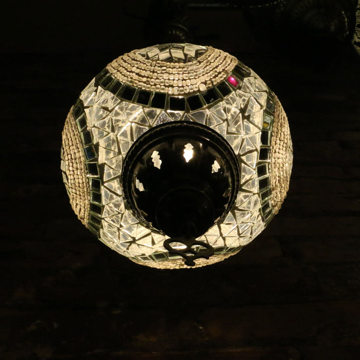 Hanging Mosaic Lamp in White