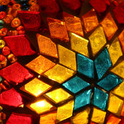 Hanging Mosaic Lamp in Rainbow Colors