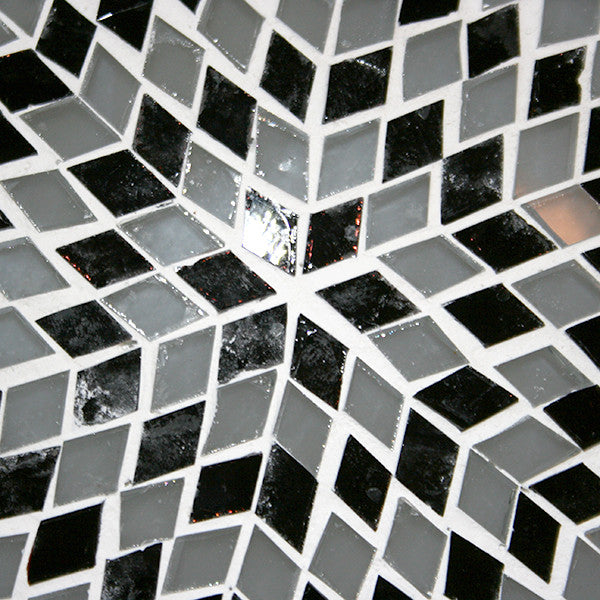 Mosaic Flush Mount for Ceiling or Wall Lamp in White and Black