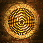 Mosaic Flush Mount for Ceiling or Wall Lamp in Amber