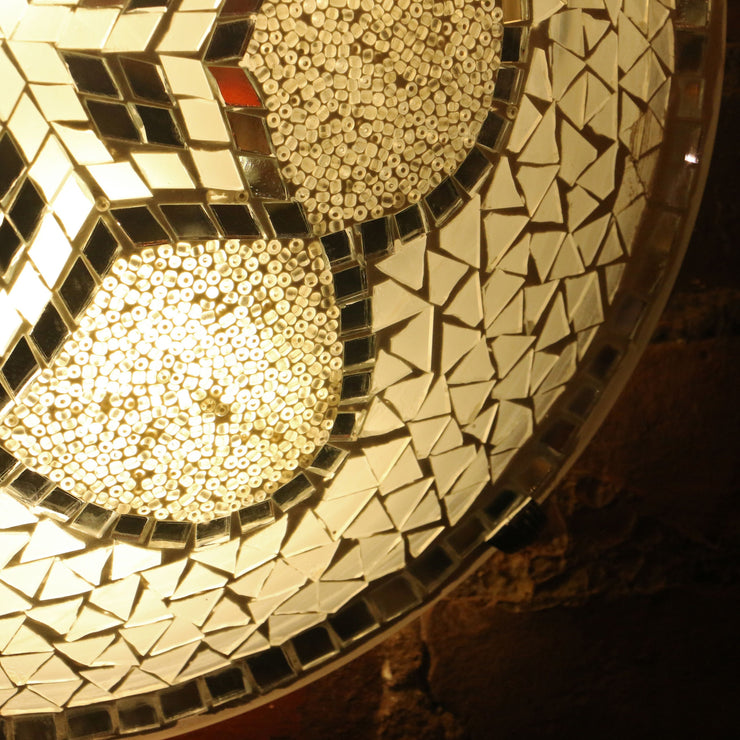 Mosaic Flush Mount for Ceiling or Wall Lamp in White