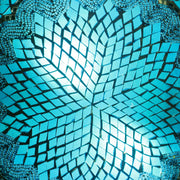 Mosaic Flush Mount for Ceiling or Wall Lamp in Aqua Blue