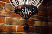 Hanging Glass Orb-Shaped Lamp