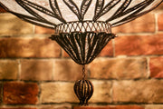 Hanging Blown Glass Lamp, Large