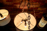 Hanging Brass Star-Cut Lantern