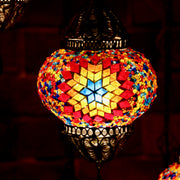 Seven Globe Exquisite Mosaic Chandelier in Many Colors